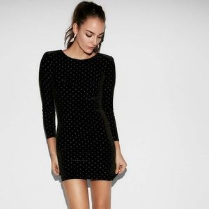Black Dress with Gold Studs